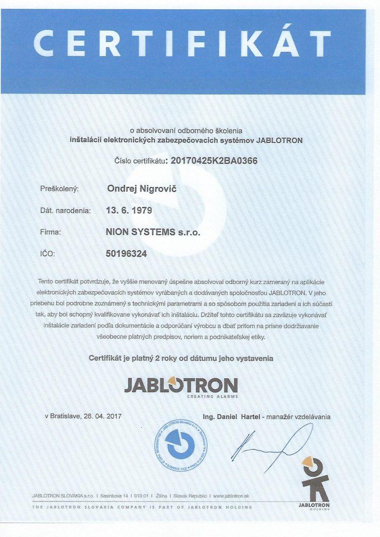 jablotron_licencia